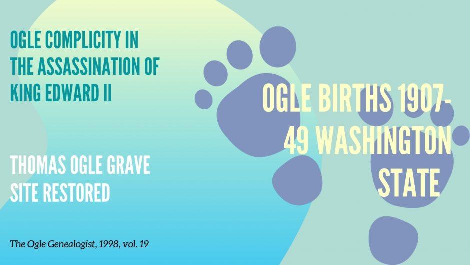 Ogle Genealogist 19